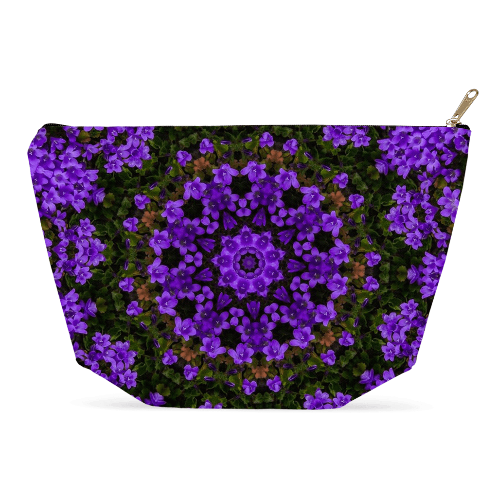 Accessory Pouch - Purple Paradise Accessory Pouch Moods of Ireland 12.5x7 inch w/ Gold Zipper Pull and Black Zipper Tape