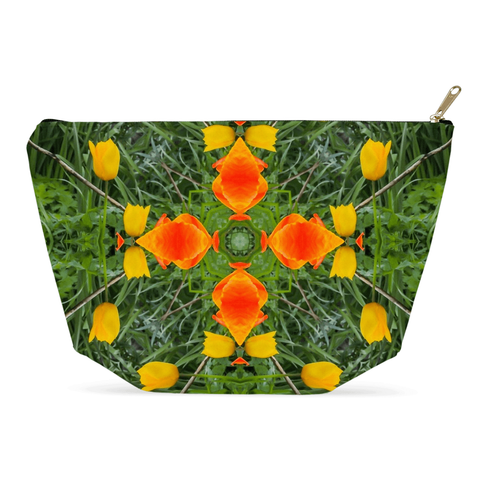 Image of Accessory Pouch - Dancing Tulips