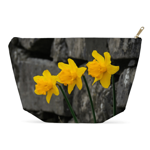 Image of Accessory Pouch - Aunt DJ's Daffodils Accessory Pouch Moods of Ireland