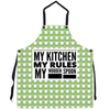 Apron - My Kitchen, My Rules, My Wooden Spoon Apron Moods of Ireland 29.5x32 inch