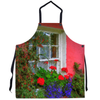 Apron - Bunratty Cottage Windowbox Apron Moods of Ireland 29.5x32 inch