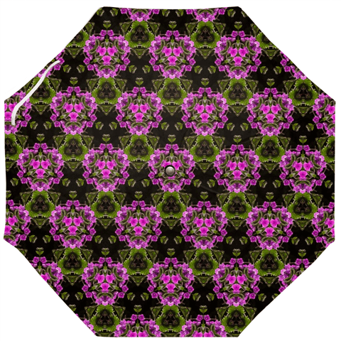 Image of Umbrellas - Herb Robert Bouquet Umbrella Moods of Ireland Auto-Foldable Umbrella