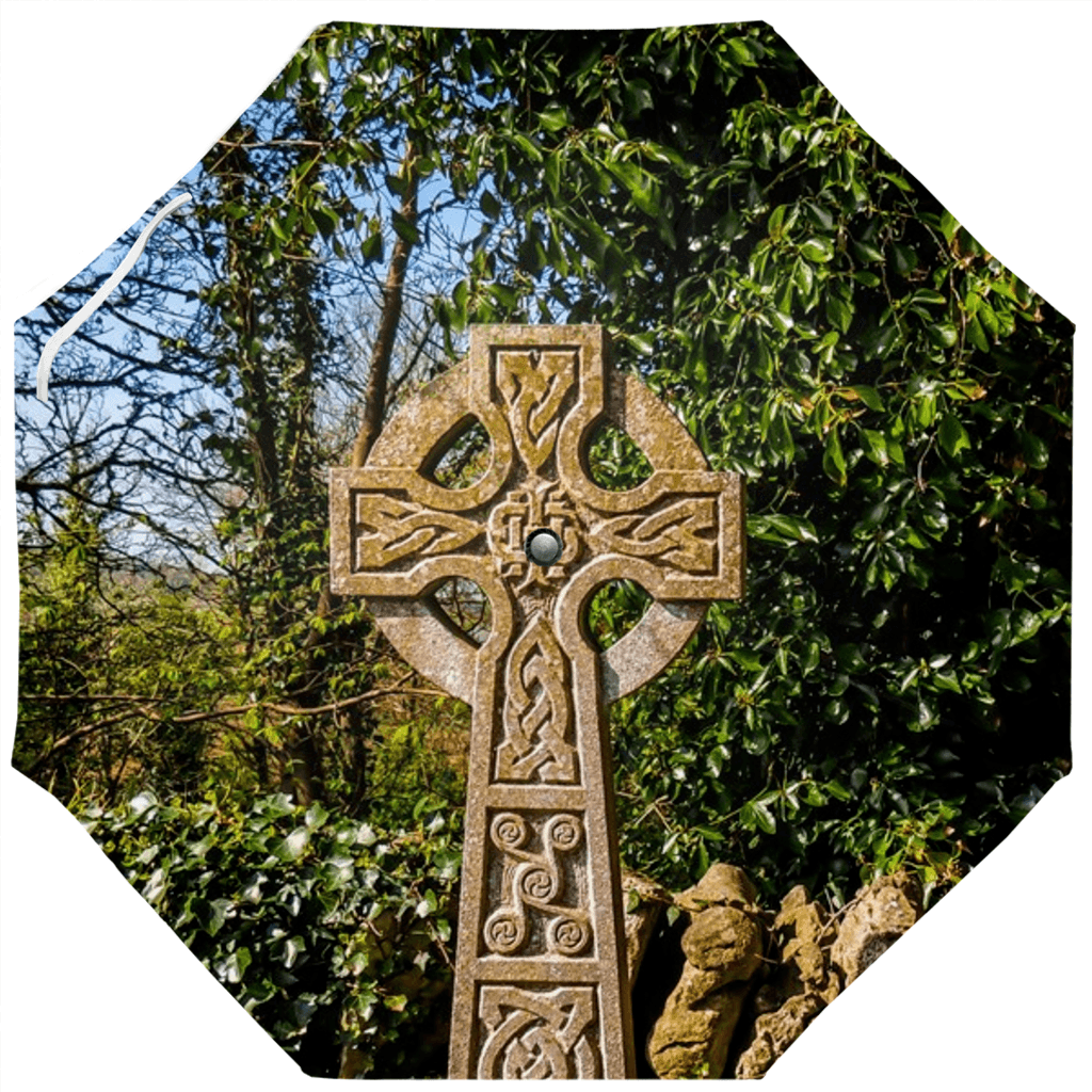 Umbrellas - Celtic Cross at Dysart O'Dea, County Clare Umbrella Moods of Ireland Auto-Foldable Umbrella