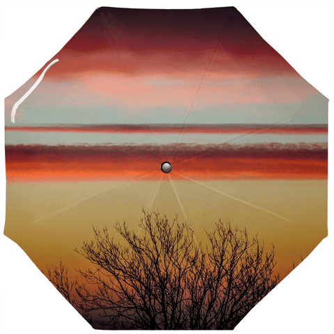 Image of Umbrellas - Crimson Irish Sunrise Umbrella Moods of Ireland Auto-Foldable Umbrella