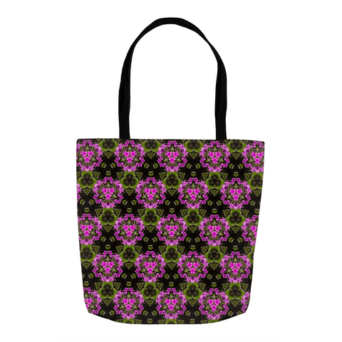 Tote Bags - Herb Robert Bouquet Tote Bag Moods of Ireland 18x18 inch