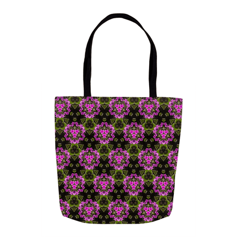Tote Bags - Herb Robert Bouquet Tote Bag Moods of Ireland 16x16 inch