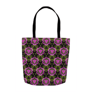 Tote Bags - Herb Robert Bouquet Tote Bag Moods of Ireland 13x13 inch
