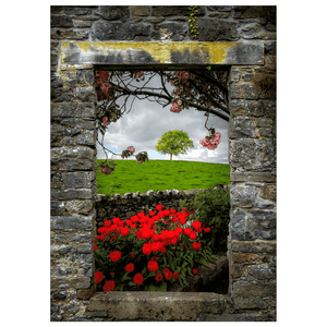Flat Card - Blooming County Clare Countryside
