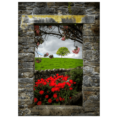Flat Card - Blooming County Clare Countryside Flat Card Moods of Ireland 1 Card