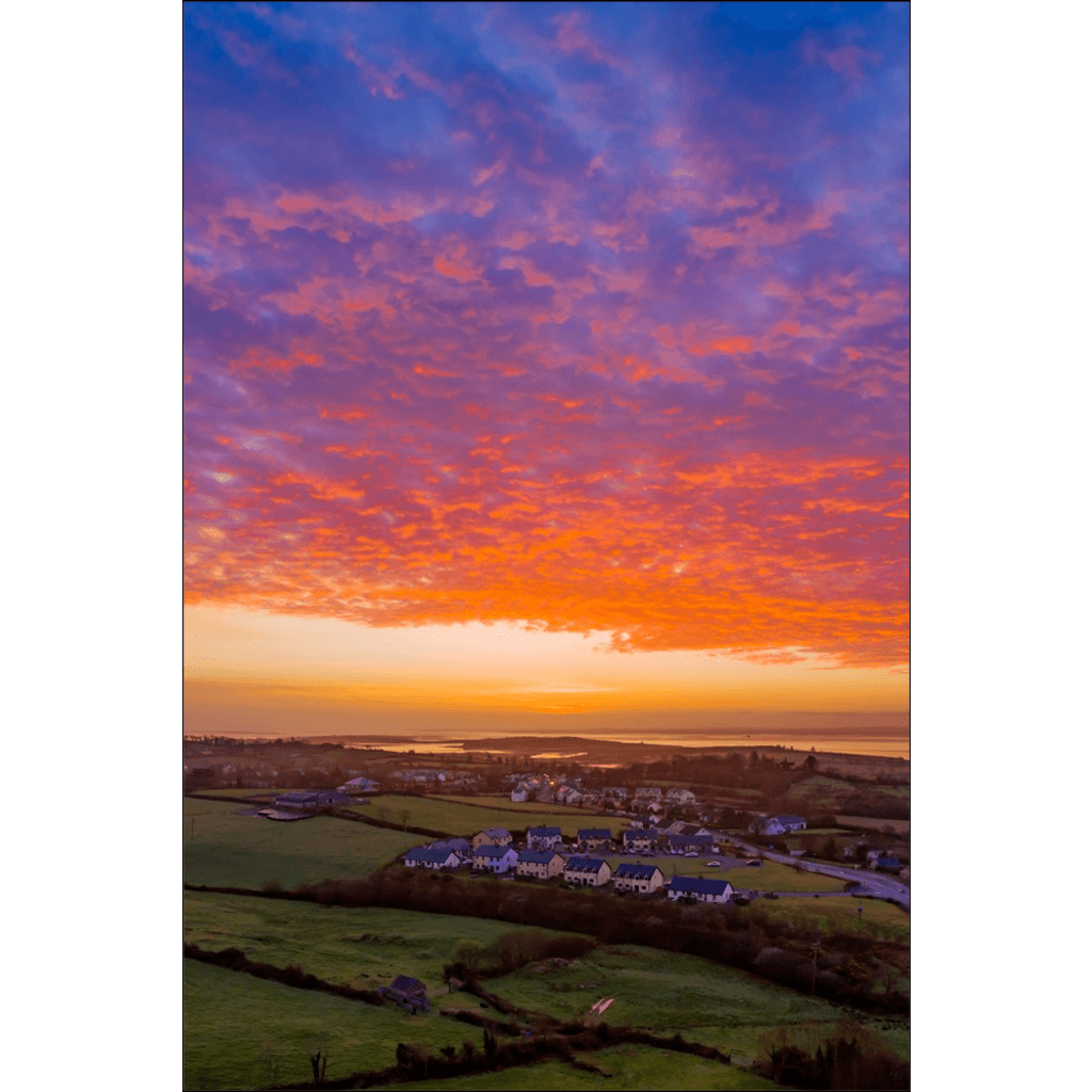 Poster Print - Radiant Sunrise over Ireland's Shannon Estuary Poster Print Moods of Ireland 12x18 inch