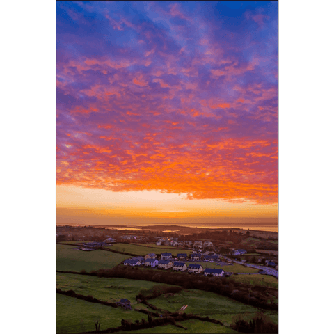 Image of Poster Print - Radiant Sunrise over Ireland's Shannon Estuary Poster Print Moods of Ireland 12x18 inch