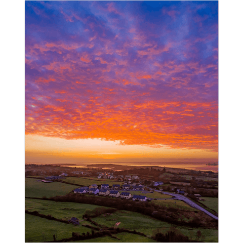 Image of Poster Print - Radiant Sunrise over Ireland's Shannon Estuary Poster Print Moods of Ireland 16x20 inch