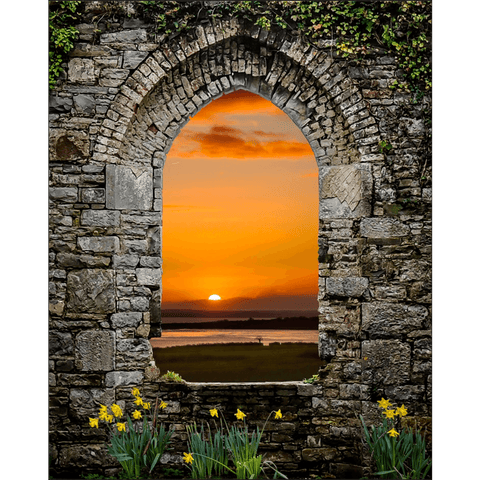 Image of Posters - Magical Irish Spring in County Clare, Ireland Poster Moods of Ireland 8x10 inch