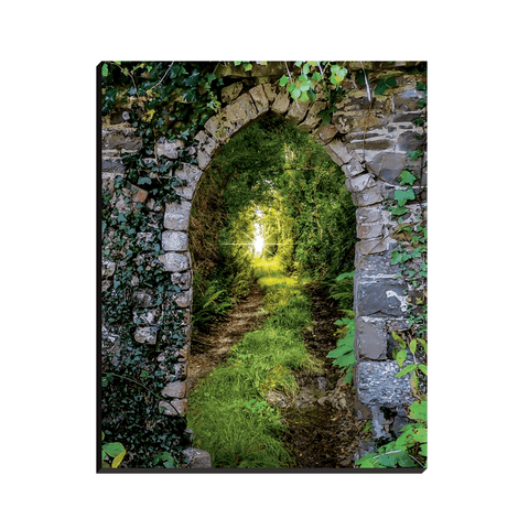 Image of Canvas Wraps - Tranquil Irish Path in County Clare Canvas Wrap Moods of Ireland 8x10 inch