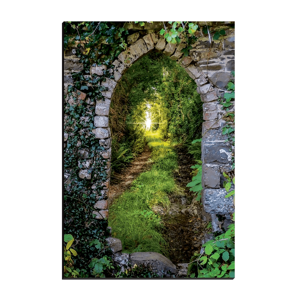 Canvas Wraps - Tranquil Irish Path in County Clare Canvas Wrap Moods of Ireland 12x18 inch
