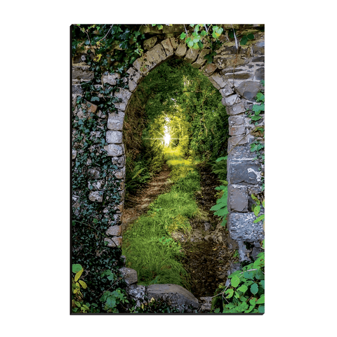 Image of Canvas Wraps - Tranquil Irish Path in County Clare Canvas Wrap Moods of Ireland 12x18 inch