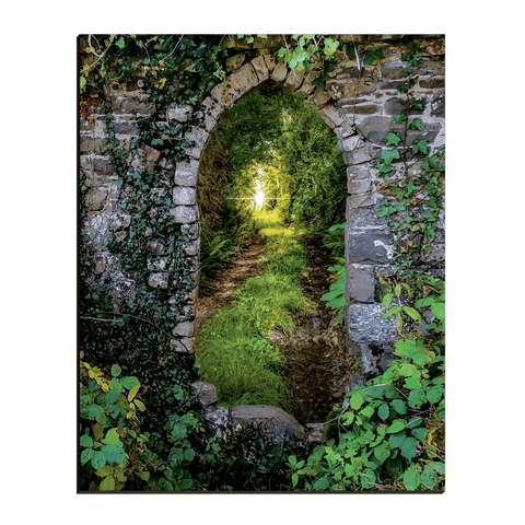 Image of Canvas Wraps - Tranquil Irish Path in County Clare Canvas Wrap Moods of Ireland 16x20 inch