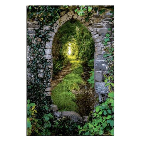 Image of Canvas Wraps - Tranquil Irish Path in County Clare Canvas Wrap Moods of Ireland 24x36 inch