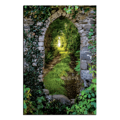 Image of Canvas Wraps - Tranquil Irish Path in County Clare Canvas Wrap Moods of Ireland 20x30 inch