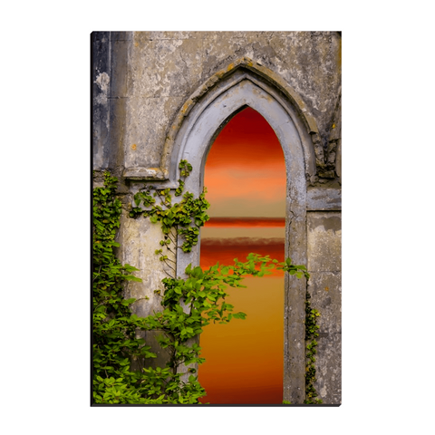 Image of Canvas Wraps - Sunrise at Paradise House near Ballynacally, County Clare Canvas Wrap Moods of Ireland 12x18 inch