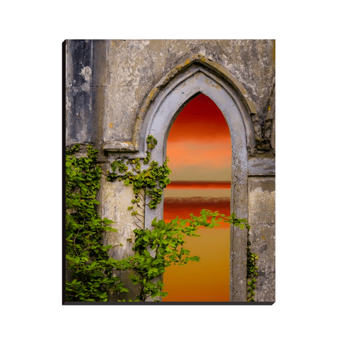 Image of Canvas Wraps - Sunrise at Paradise House near Ballynacally, County Clare Canvas Wrap Moods of Ireland 8x10 inch
