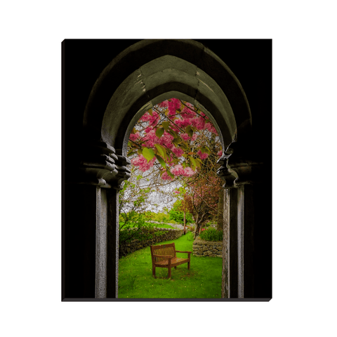 Image of Canvas Wraps - Medieval Abbey in Irish Spring, Quin Abbey, County Clare, Ireland Canvas Wrap Moods of Ireland 8x10 inch