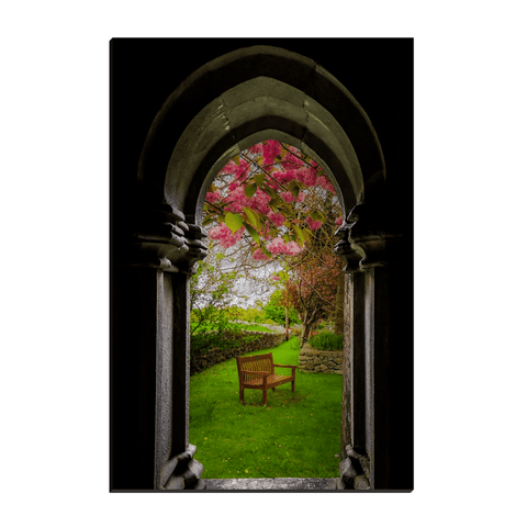 Image of Canvas Wraps - Medieval Abbey in Irish Spring, Quin Abbey, County Clare, Ireland Canvas Wrap Moods of Ireland 12x18 inch