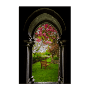 Canvas Wraps - Medieval Abbey in Irish Spring, Quin Abbey, County Clare, Ireland Canvas Wrap Moods of Ireland 12x18 inch