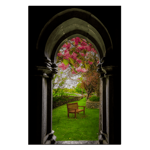 Image of Canvas Wraps - Medieval Abbey in Irish Spring, Quin Abbey, County Clare, Ireland Canvas Wrap Moods of Ireland 24x36 inch