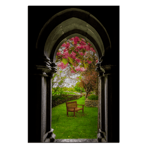 Canvas Wraps - Medieval Abbey in Irish Spring, Quin Abbey, County Clare, Ireland Canvas Wrap Moods of Ireland 24x36 inch