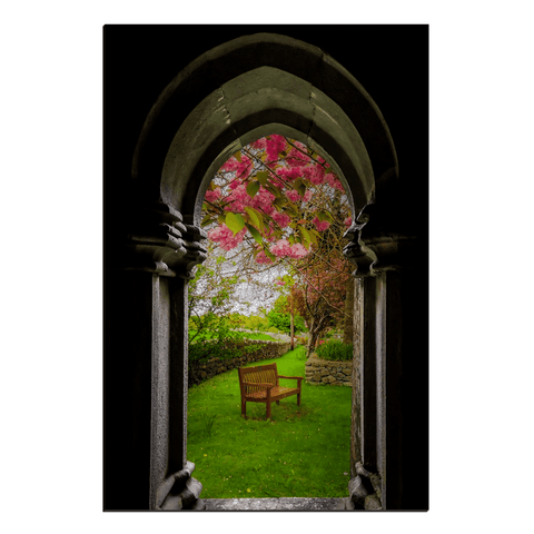 Image of Canvas Wraps - Medieval Abbey in Irish Spring, Quin Abbey, County Clare, Ireland Canvas Wrap Moods of Ireland 20x30 inch