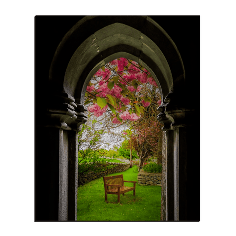 Image of Canvas Wraps - Medieval Abbey in Irish Spring, Quin Abbey, County Clare, Ireland Canvas Wrap Moods of Ireland 16x20 inch