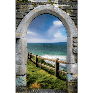 County Clare Atlantic Storm, Irish Art Poster Poster Moods of Ireland 12x18