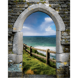 County Clare Atlantic Storm, Irish Art Poster Poster Moods of Ireland 16x20