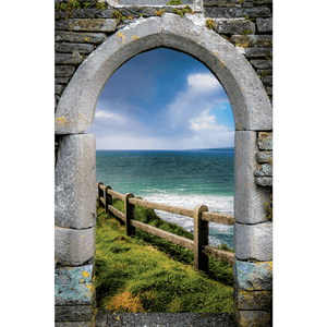County Clare Atlantic Storm, Irish Art Poster Poster Moods of Ireland 24x36