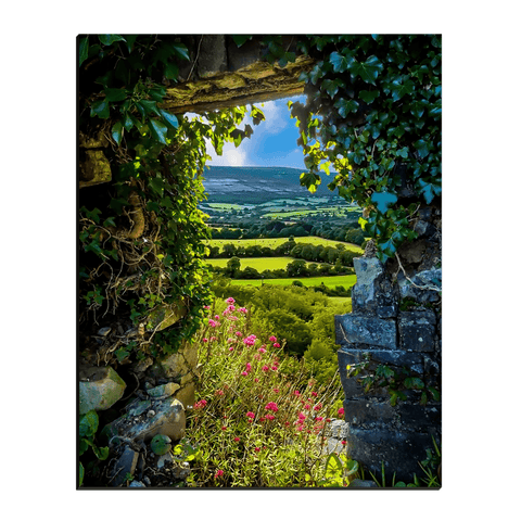 Image of Canvas Wraps - Secret Irish Garden, County Clare, Ireland Canvas Wrap Moods of Ireland 16x20 inch