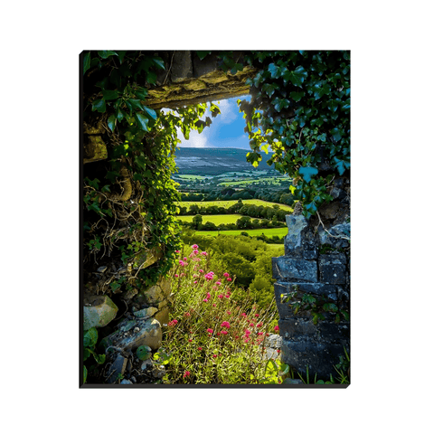 Image of Canvas Wraps - Secret Irish Garden, County Clare, Ireland Canvas Wrap Moods of Ireland 8x10 inch