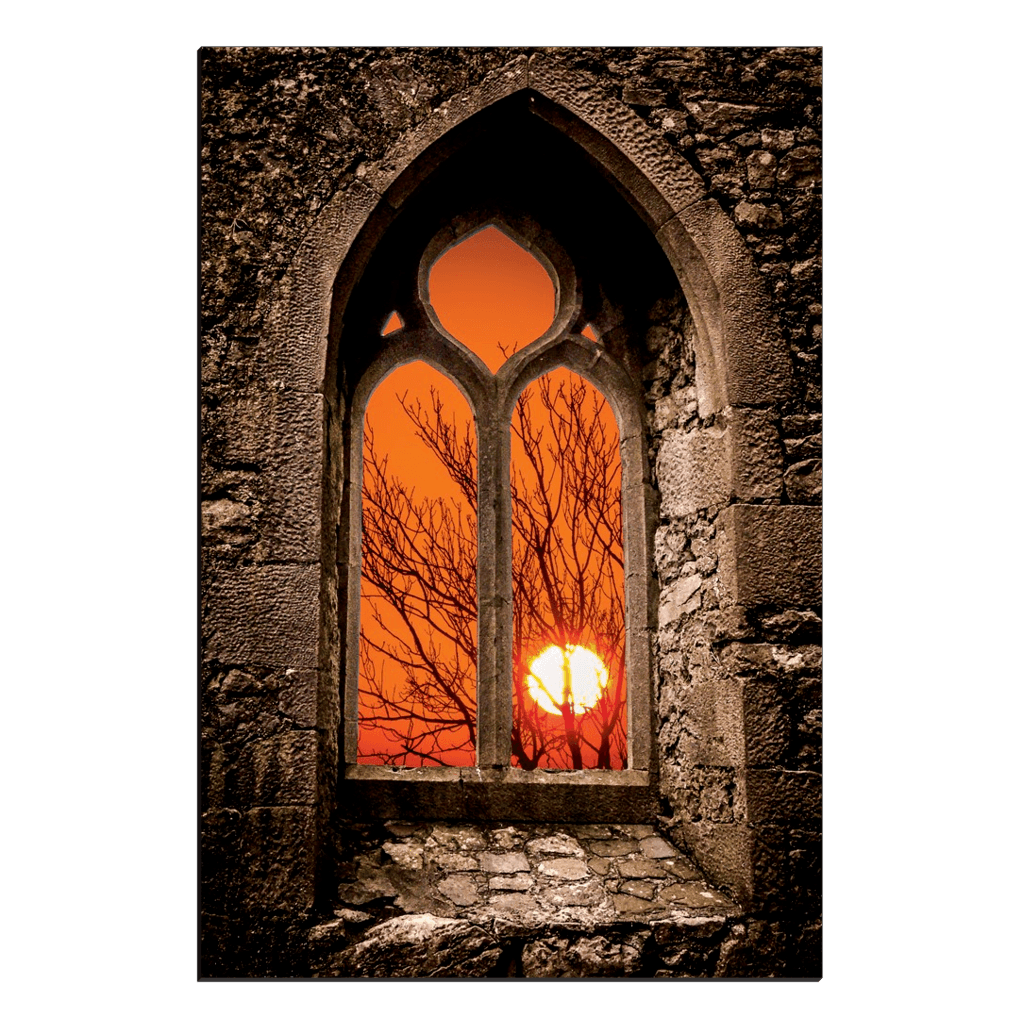 Canvas Wraps - Clare Abbey Sunrise in County Clare, Ireland Canvas Wrap Moods of Ireland 20x30 inch
