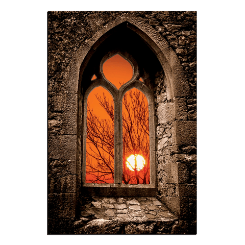 Image of Canvas Wraps - Clare Abbey Sunrise in County Clare, Ireland Canvas Wrap Moods of Ireland 20x30 inch