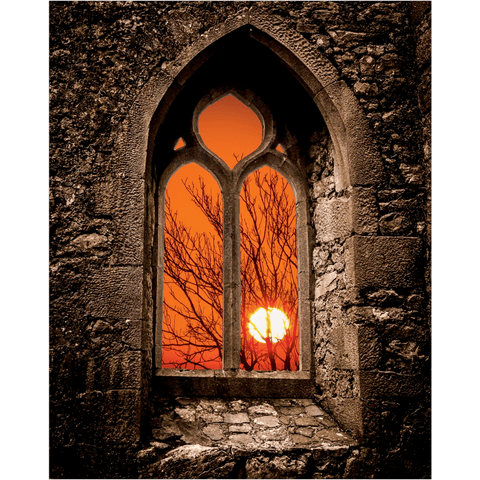 Poster Print - Clare Abbey Sunrise, County Clare, Ireland Poster Moods of Ireland 16x20
