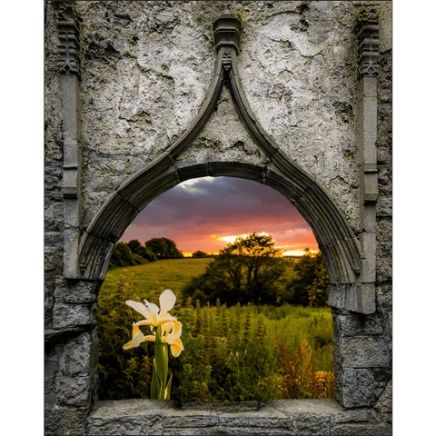 Poster Print - Serene Sunset over County Clare, Ireland, MIndfulness Art Poster Moods of Ireland 8x10