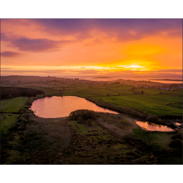 Poster Prints - Sunrise over Ballylean Lake and Ireland's Shannon Estuary, County Clare Poster Print Moods of Ireland