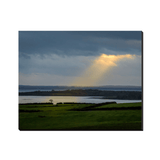 Canvas Wraps - Rays of Hope Over Ireland's Shannon Estuary Canvas Wrap Moods of Ireland 8x10 inch