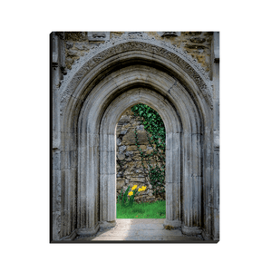 Canvas Wraps - Sculpted Portal to Irish Spring Garden Canvas Wall Art Moods of Ireland