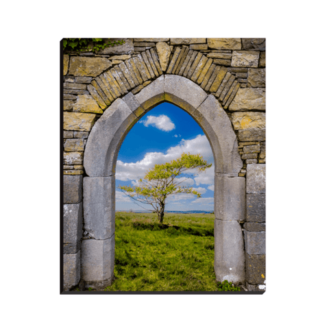 Image of Canvas Wrap - Portal to Irish Summer, County Clare - James A. Truett - Moods of Ireland - Irish Art