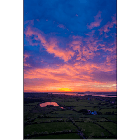 Image of Poster Print - May Sunrise over Ireland's Shannon Estuary, County Clare Poster Print Moods of Ireland 12x18 inch
