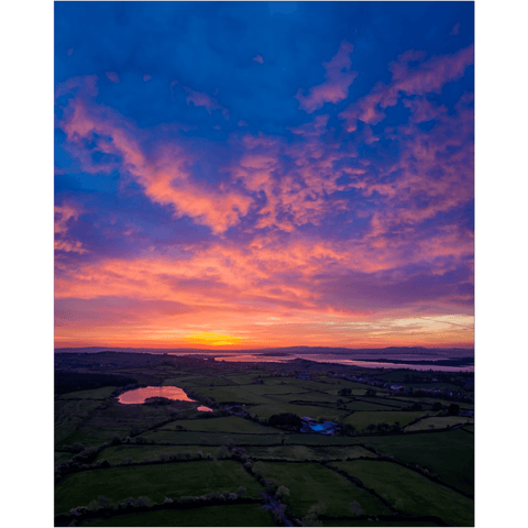 Image of Poster Print - May Sunrise over Ireland's Shannon Estuary, County Clare Poster Print Moods of Ireland 16x20 inch