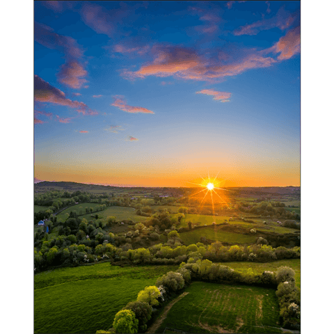 Image of Print - May Irish Sunset over County Clare Countryside - James A. Truett - Moods of Ireland - Irish Art