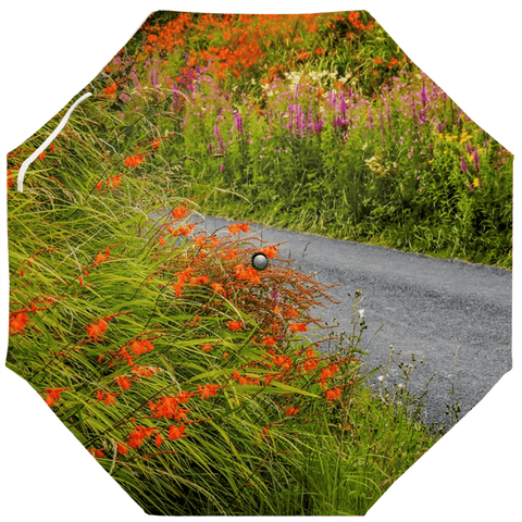 Umbrellas - Summer Irish Wildflowers of Lacknashannagh, County Clare Umbrella Moods of Ireland Auto-Foldable Umbrella