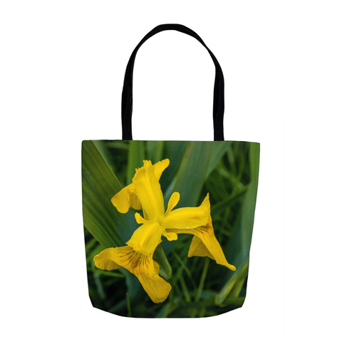 Tote Bags - Wild Irish Flag Iris Tote Bag Moods of Ireland 13x13 inch